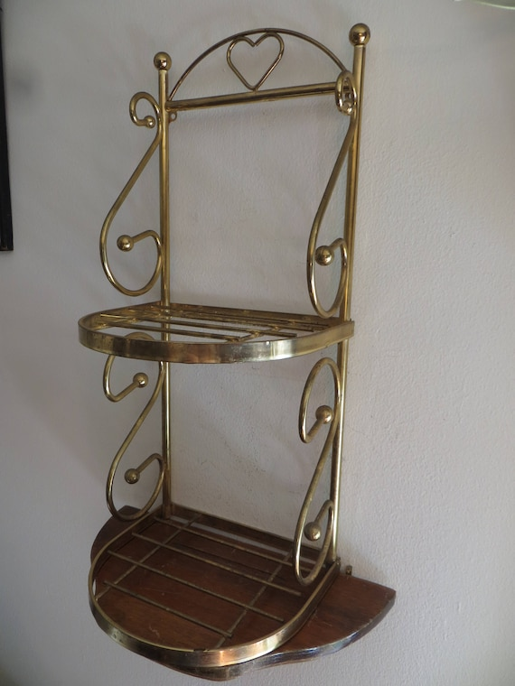 Miniature Bakers Rack display stand kitchen shelf decor