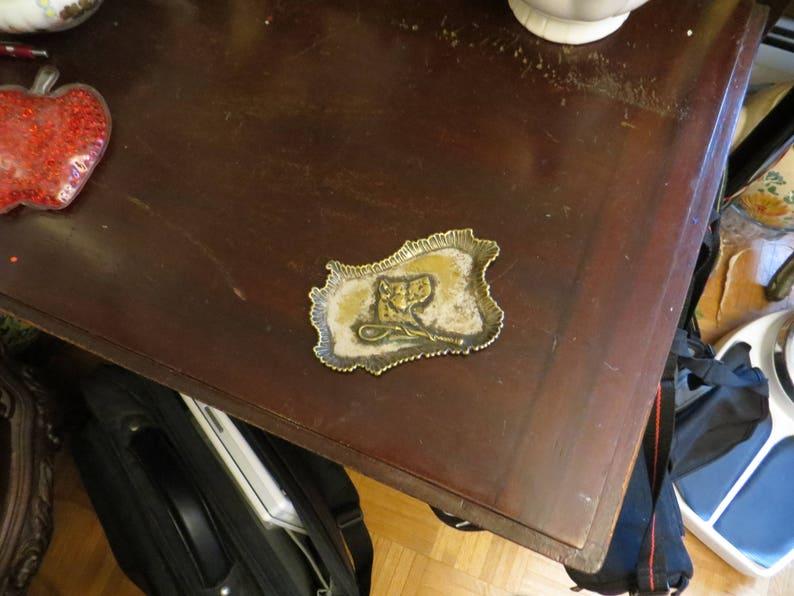 Vintage Dog Trinket Dish K-9 Ring Tray w free ship.