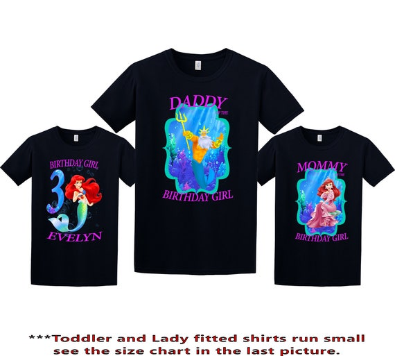 The Little Mermaid Birthday Shirt Ariel Custom