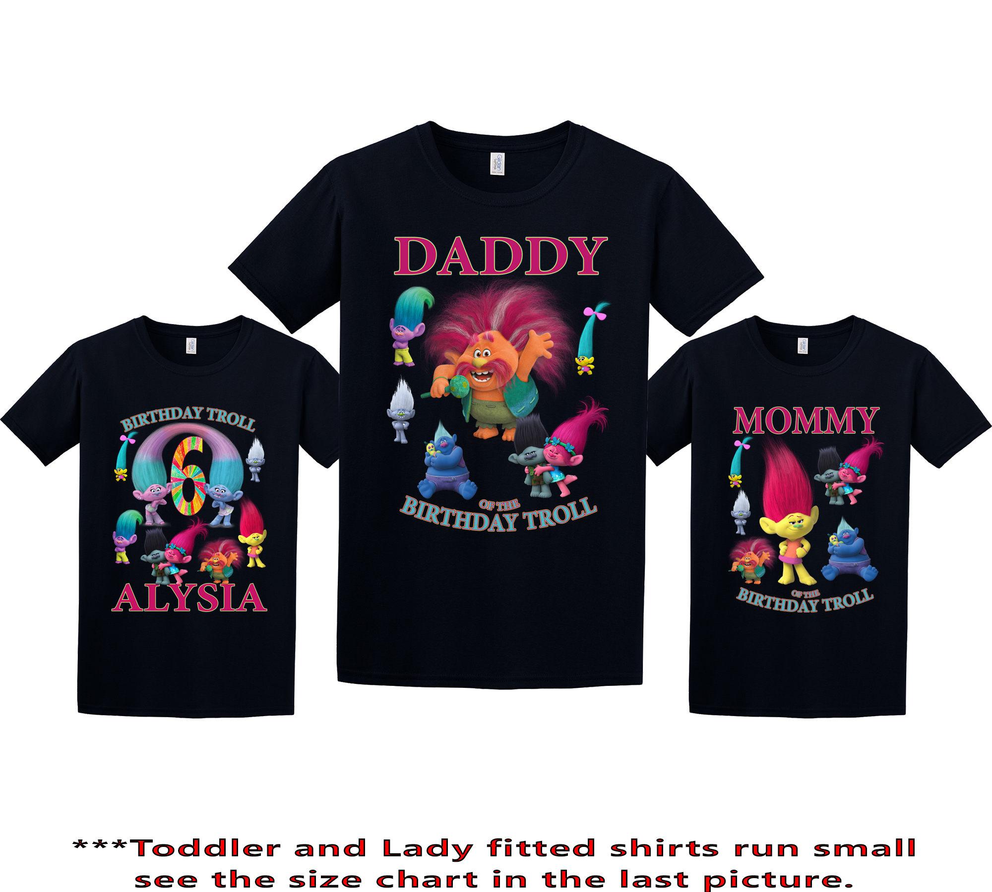 deceb5d6 Trolls Birthday Shirt Trolls Custom Shirt Personalized | Etsy