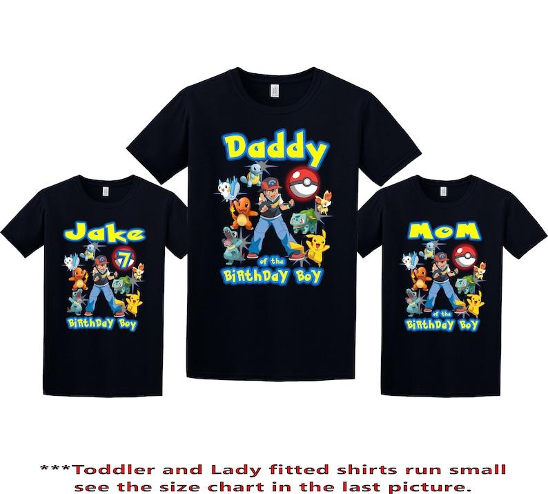 14b3085d Pokemon Birthday Shirt Pokemon Custom Shirt Personalized | Etsy