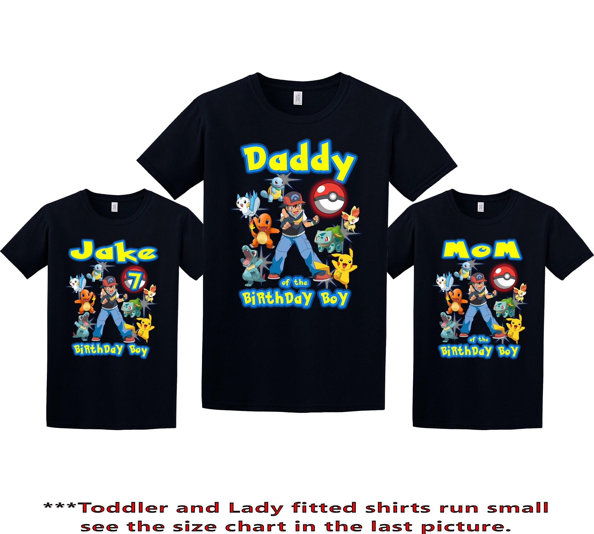 e97314fd Pokemon Birthday Shirt Pokemon Custom Shirt Personalized | Etsy