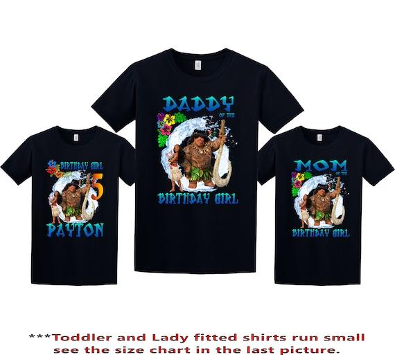 Moana Birthday Shirt Custom Personalized