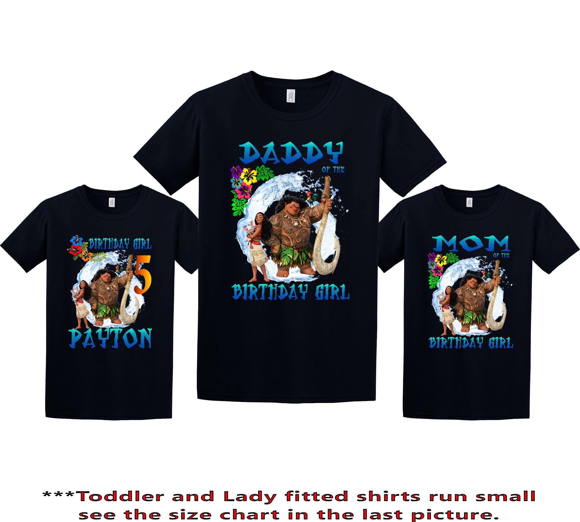 c85beb61 Moana Birthday Shirt Moana Custom Shirt Personalized Moana | Etsy