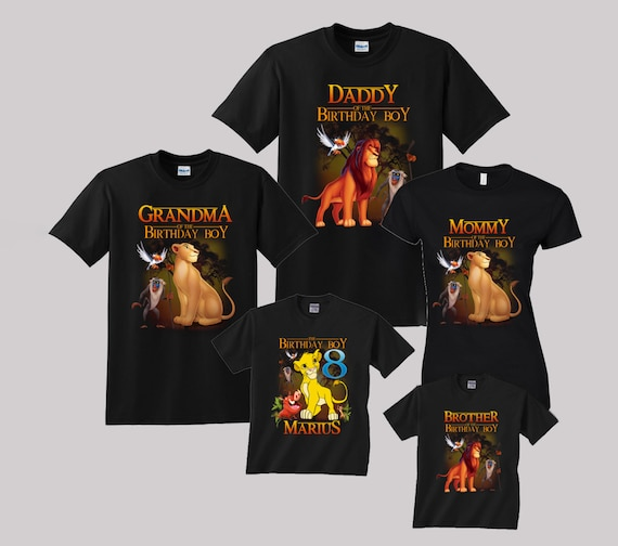 Lion King Birthday Shirt Custom Personalized Shirts For All