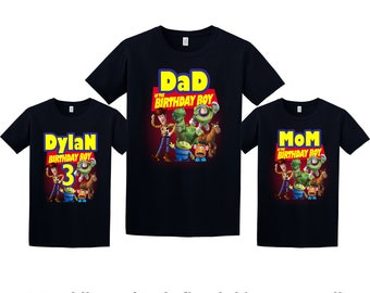 Toy Story Birthday Shirt, Toy Story Custom Shirt, Personalized Toy Story Shirt, Toy Story family shirts, Birthday t-shirt for girls and boys
