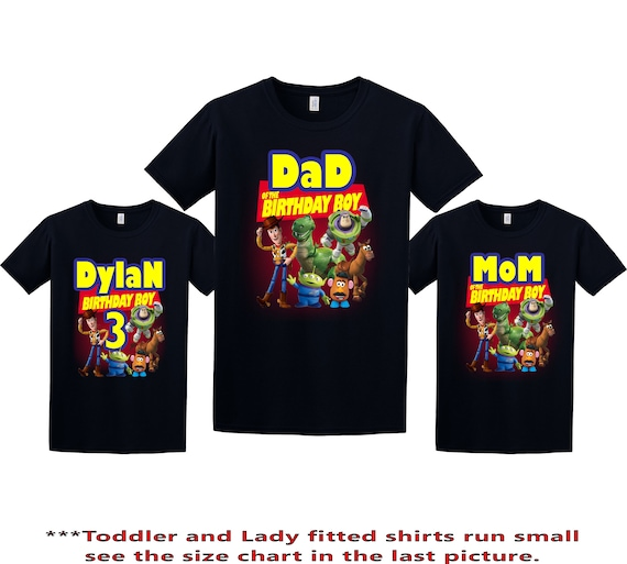 Personalizes Birthday Age Cute Toy Story 4 Movie Girls Kids T Shirt Unisex