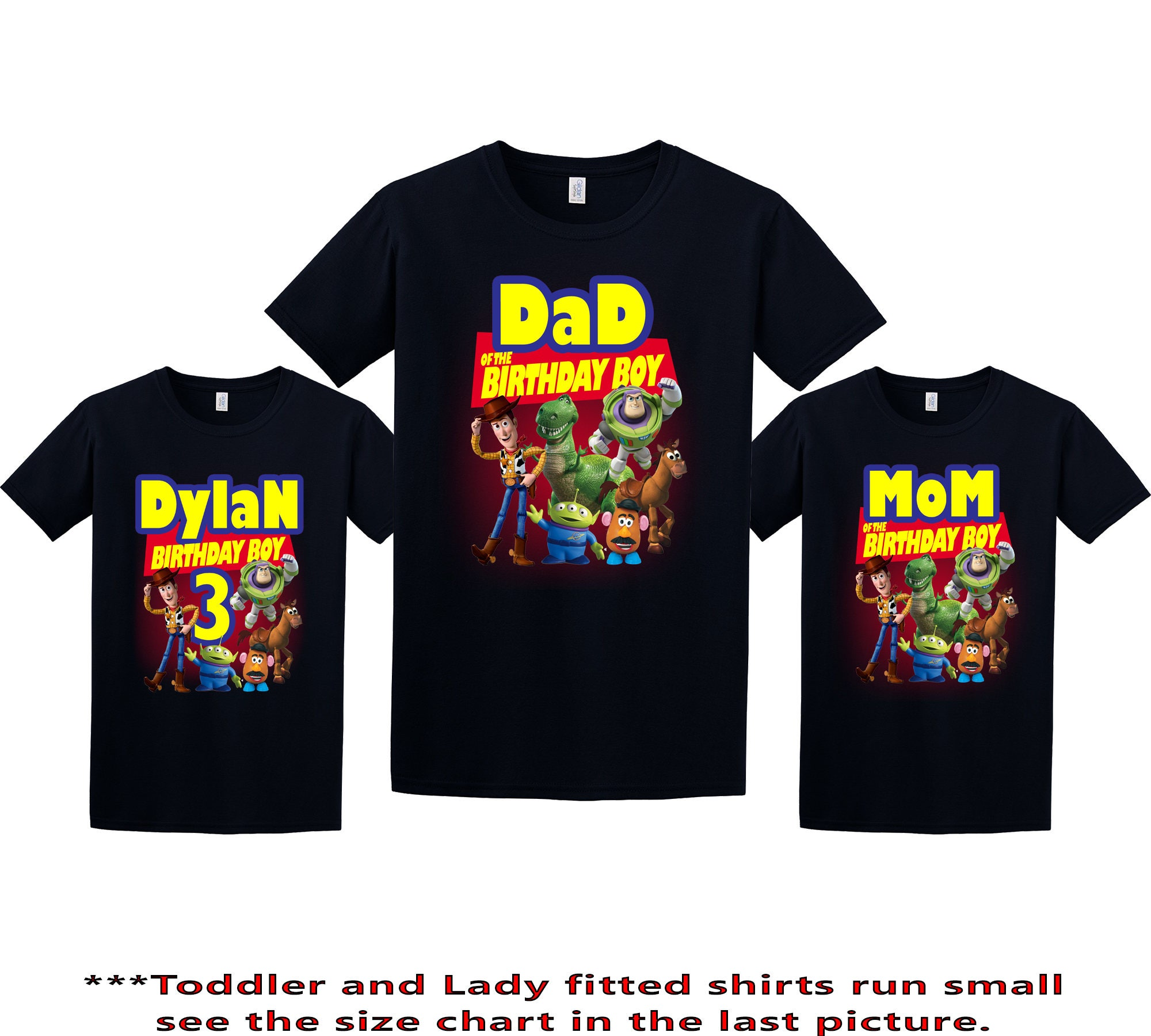 2243b0056b2ca Toy Story Birthday Shirt, Toy Story Custom Shirt, Personalized Toy Story  Shirt, Toy Story family shirts, Birthday t-shirt for girls and boys
