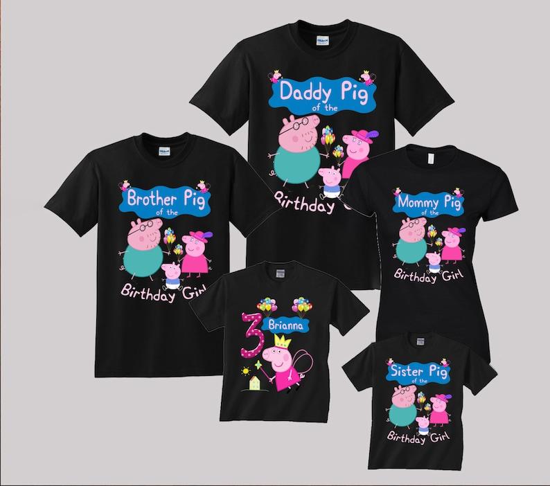 Peppa Pig Birthday Shirt Custom Personalized Shirts For All