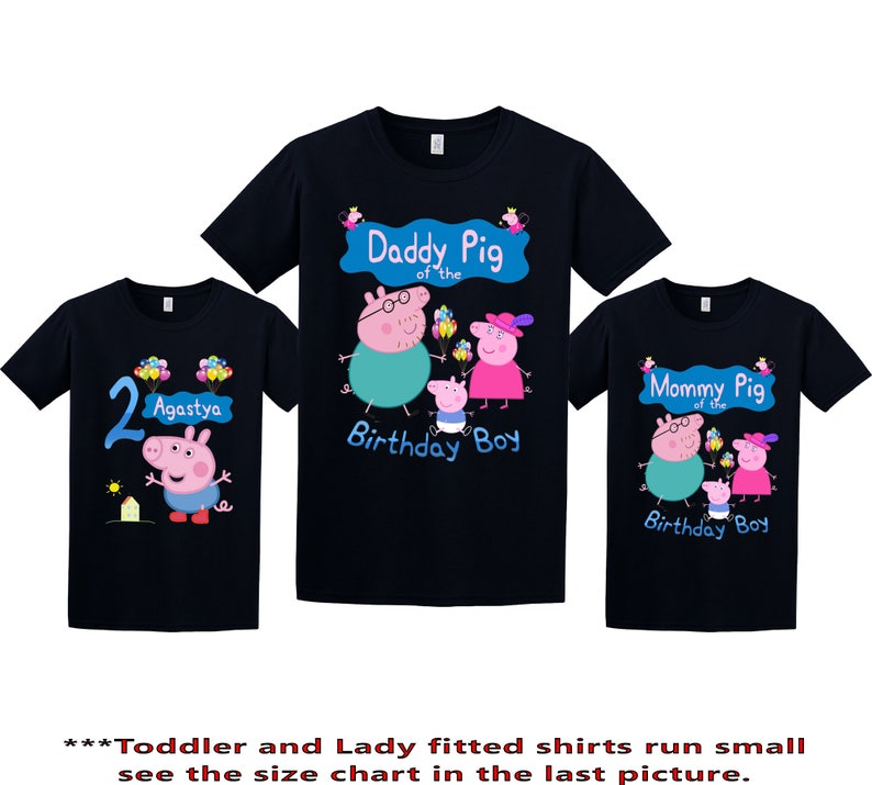 937a9219d Peppa Pig Birthday Shirt Peppa Pig Custom Shirt Personalized | Etsy