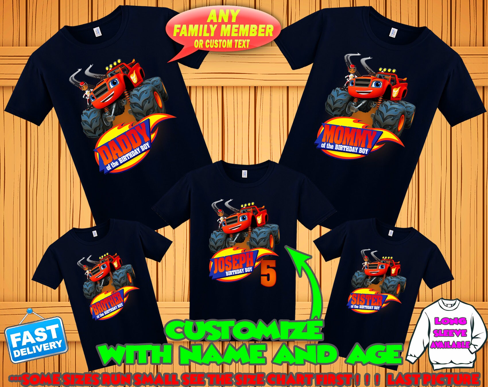 Blaze Birthday Shirt Blaze And The Monster Machines Birthday Etsy
