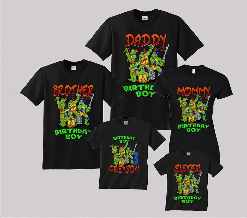 1c49e92f45 TMNT Ninja Turtles Birthday Shirt Custom personalized shirts