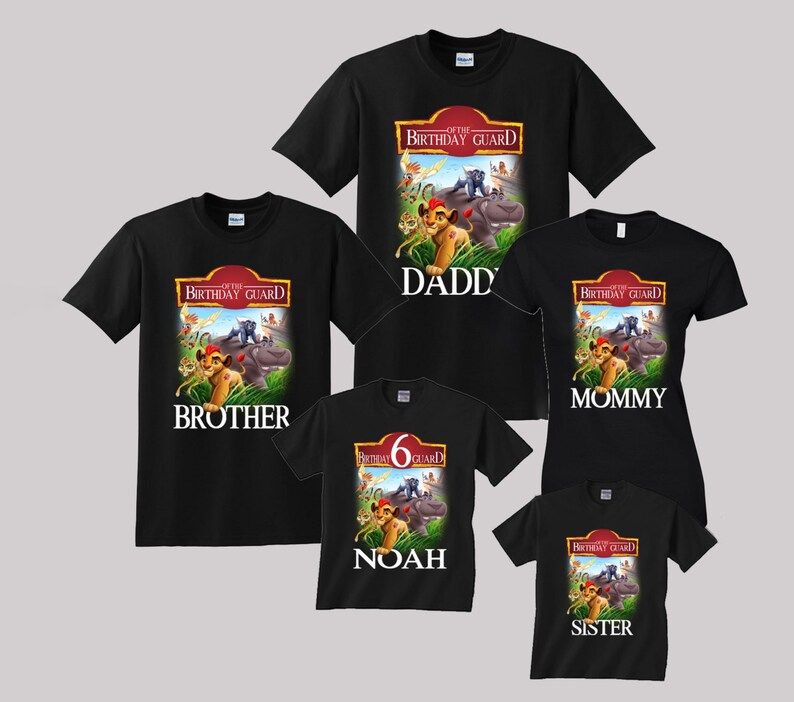 Lion Guard Birthday Shirt Custom Personalized Shirts For All