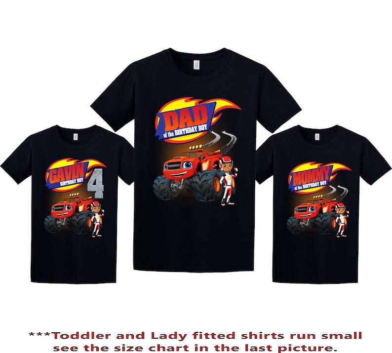 Blaze Birthday Shirt Blaze and the Monster Machines Custom image 0