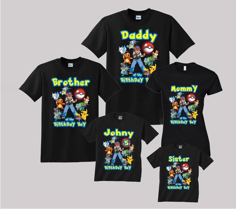 058ebf1d4 Pokemon Birthday Shirt Custom personalized shirts for all   Etsy