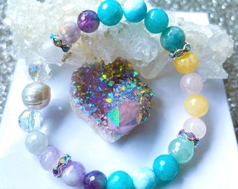 Angel Protection Squad, spiritual jewelry, for mom, daughter, sister, cousin, friend, bear friend, yoga teacher, chakras, crystals, gift