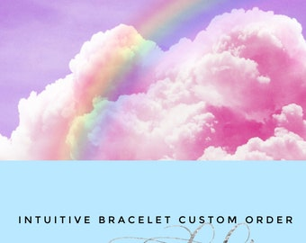Personalized gift, angel protection, gift for, sister, daughter, Custom, crystal, jewelry, personalized bracelet, intuitive bracelet, I am