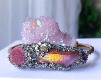 Raw Ruby Bracelet, July Birthstone Bracelet, July Birthday Gift, July Birthstone gift, Heart Chakra Bracelet, gift for her, unicorn, magic