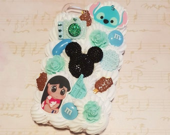 Ready to Ship! iphone 4 Disney Lilo and Stitch cell phone Decoden case