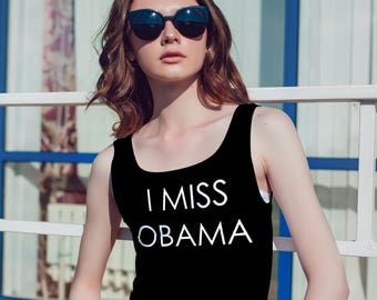 46dfc43d78e71 I Miss Obama Tank - Obama Tank Top - Obama Shirt - Slogan Tee - Anti Trump  - Political Shirt - Resist Shirt - President Shirt