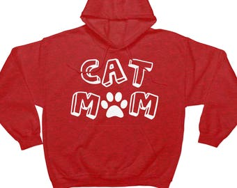 Cat Mom Hoodie Sweatshirt - Cat Shirt - Womens Hoodie - For Cat Lovers - Gift for Her - Womens Clothing