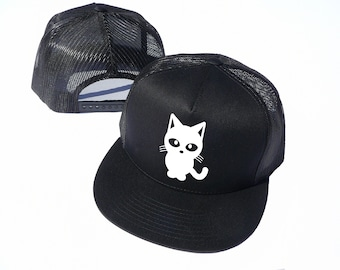 bb482d0163933 The Cute Cat Hat Cap For Womens - Classic Snapback Mesh Trucker Cap - Gift  for Pet Lovers - Best Friend Gift - Cat Owner - Snapback Cap
