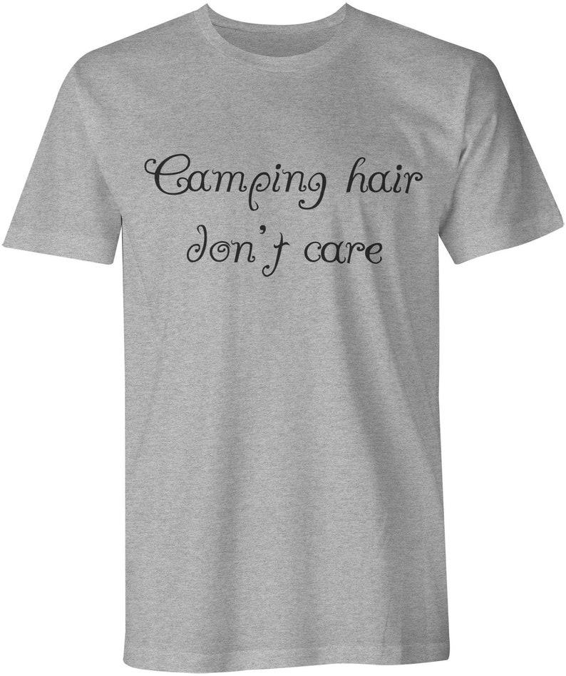 3b8ac871f2 Camping Shirt Camping Hair Dont Care Funny Shirt Mens   Etsy