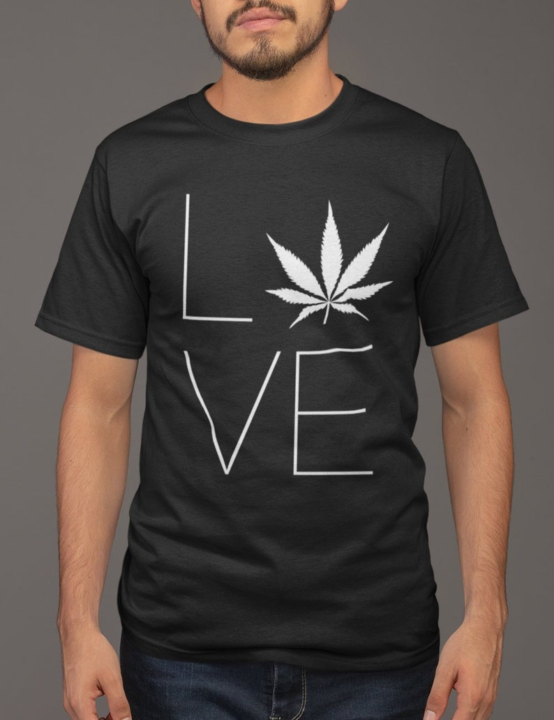 55f940882 Love Weed T-Shirt for Mens & Womens Stoners Nation 420   Etsy