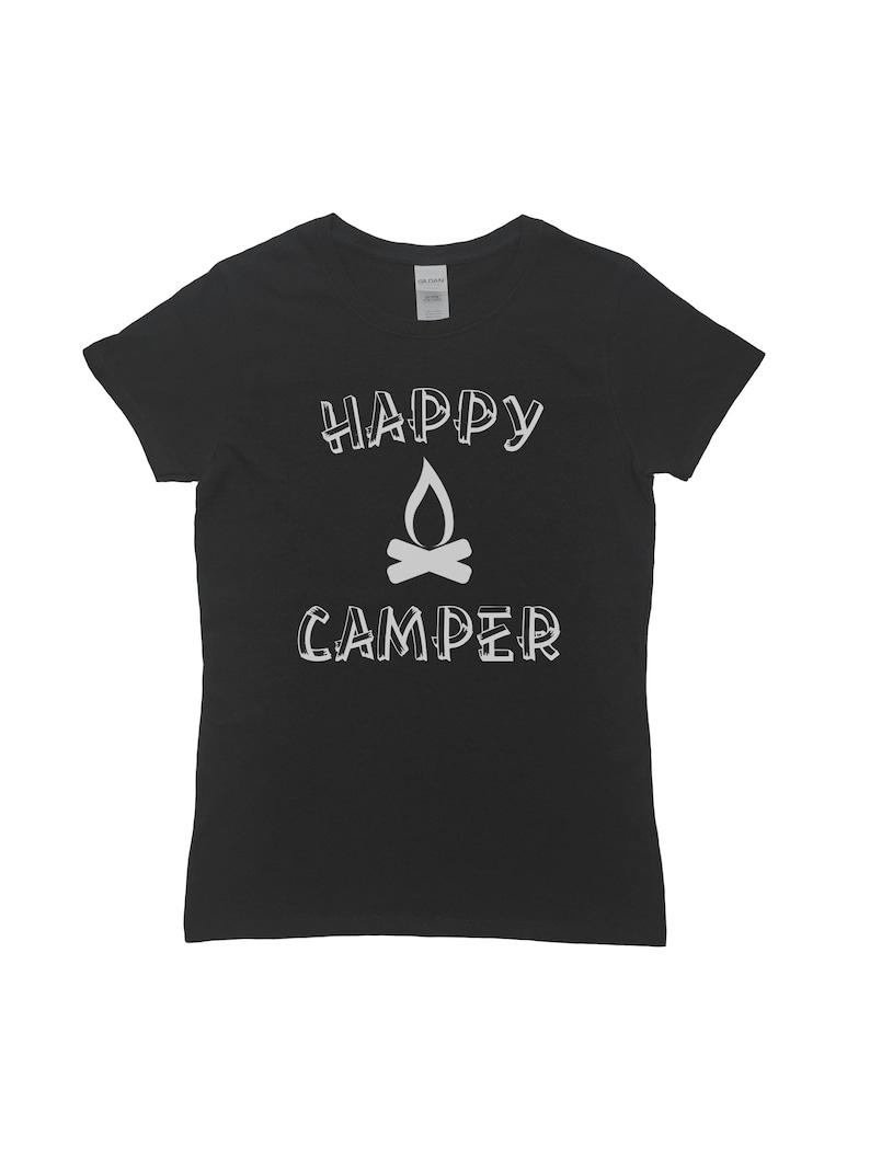 22fd929728 Happy Camper Shirt Womens Shirt Camping Shirt Outdoors   Etsy