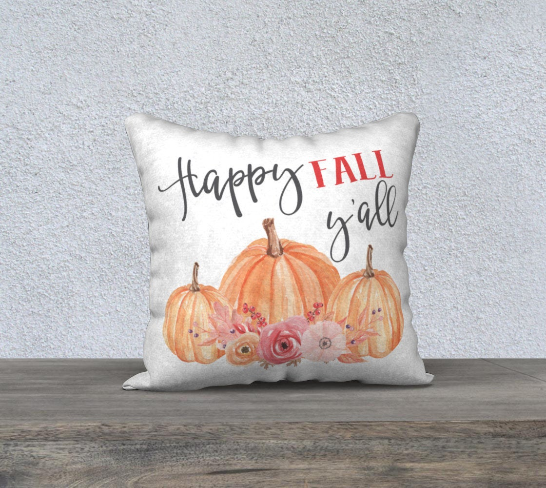 Canadian Inspired Home Decor Canada Pillow Via Etsy: Happy Fall Y'all Throw Pillow Home Decor Housewarming