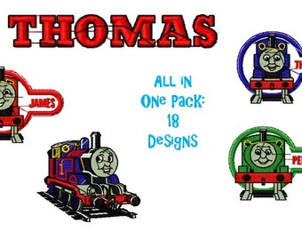 ca12ae851a7 Thomas the Tank Engine Embroidery Design Pack
