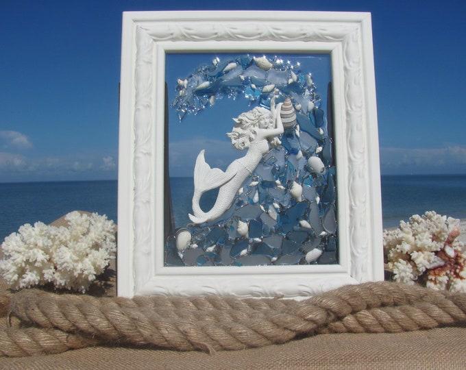 Beach Glass Mermaid Art #102