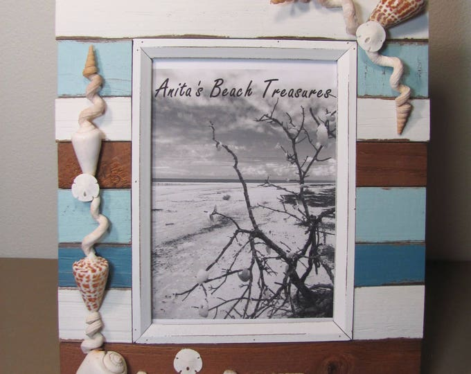 Shell Picture Frame Beach Picture Frame Sea Shell Frame Seashell Photo Frame Coastal Frame Nautical Frame Shell Photo Frame