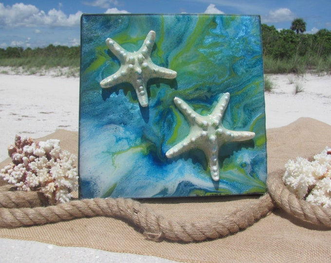 Coastal Starfish Painting Starfish Original Art Original Beach Art Beach house art Coastal Art Starfish Painting Ocean painting