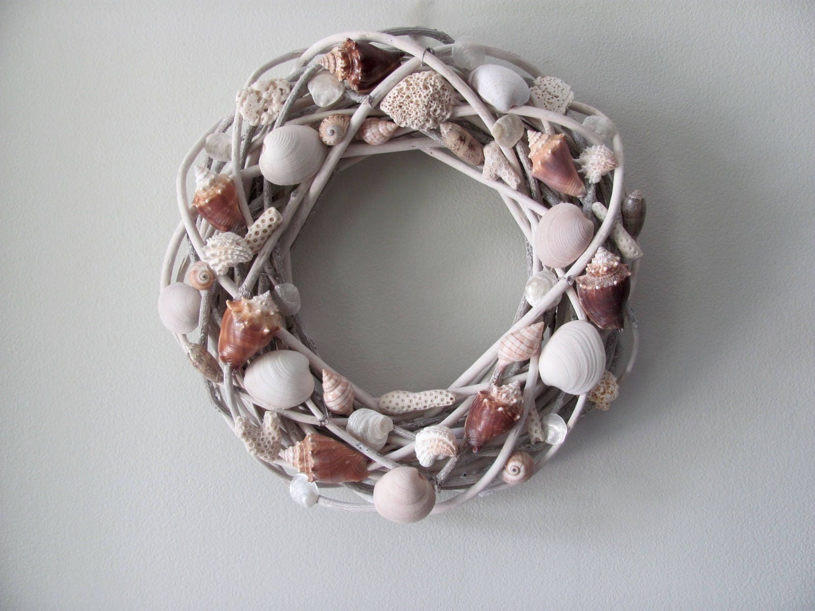 Seashell Wreath Shell Wreath Nautical Wreath Coastal Wreath
