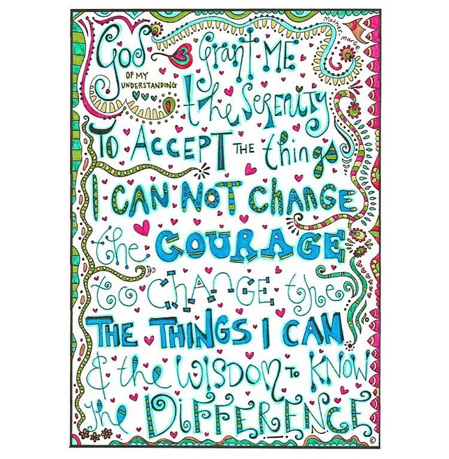 Serenity Prayer Coloring page download Adult coloring page | Etsy