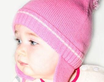 3d286e2c6fc Baby Girl Pom Pom Hat 100% Cashmere