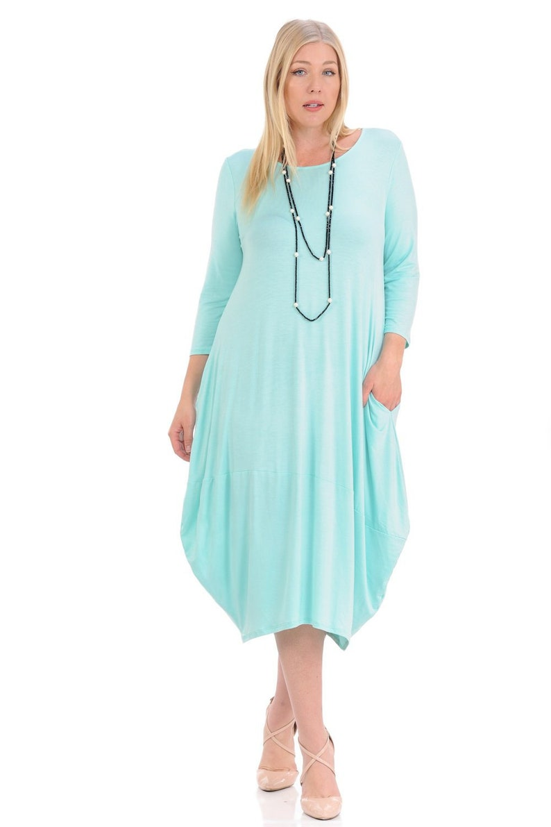 820a9a59ae1 Plus Size Cocoon Midi Dress Mint