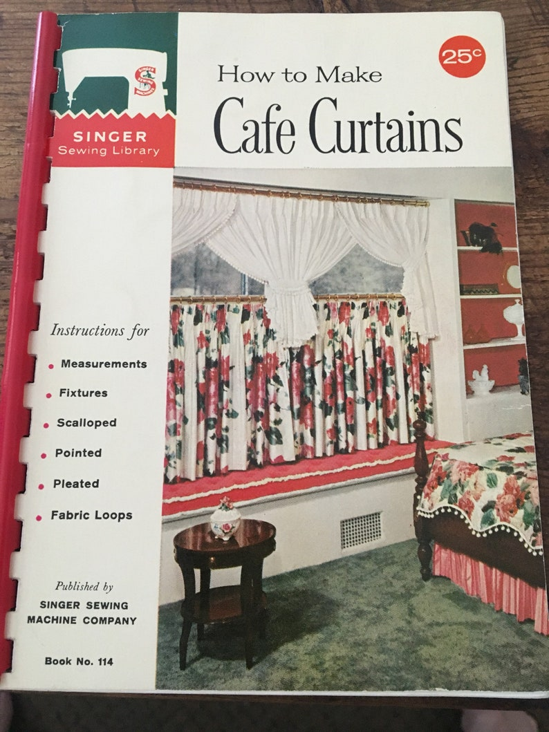 1960's The Singer Company- Singer Sewing Library  How to make Cafe Curtains  manual