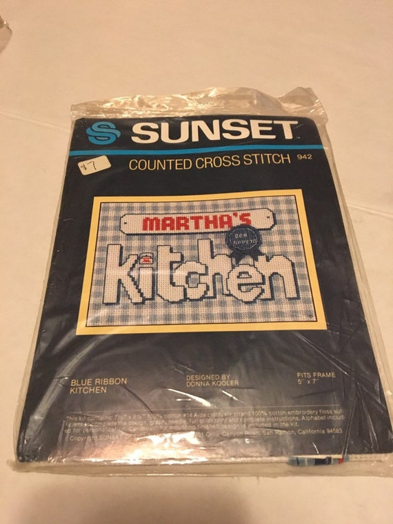 Sunset Counted Cross Stitch Kit Blue Ribbon Kitchen Kit In Original Packaging