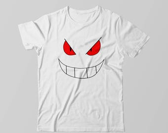 74a2bf19 Pokemon Gengar Face Kids Toddler Shirt T-shirt Tee