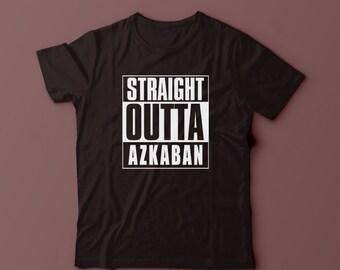 77119878c Straight Outta Azkaban Shirt T Shirt, Unisex And Womens T-shirt Size S, M,  L, XL, 2XL