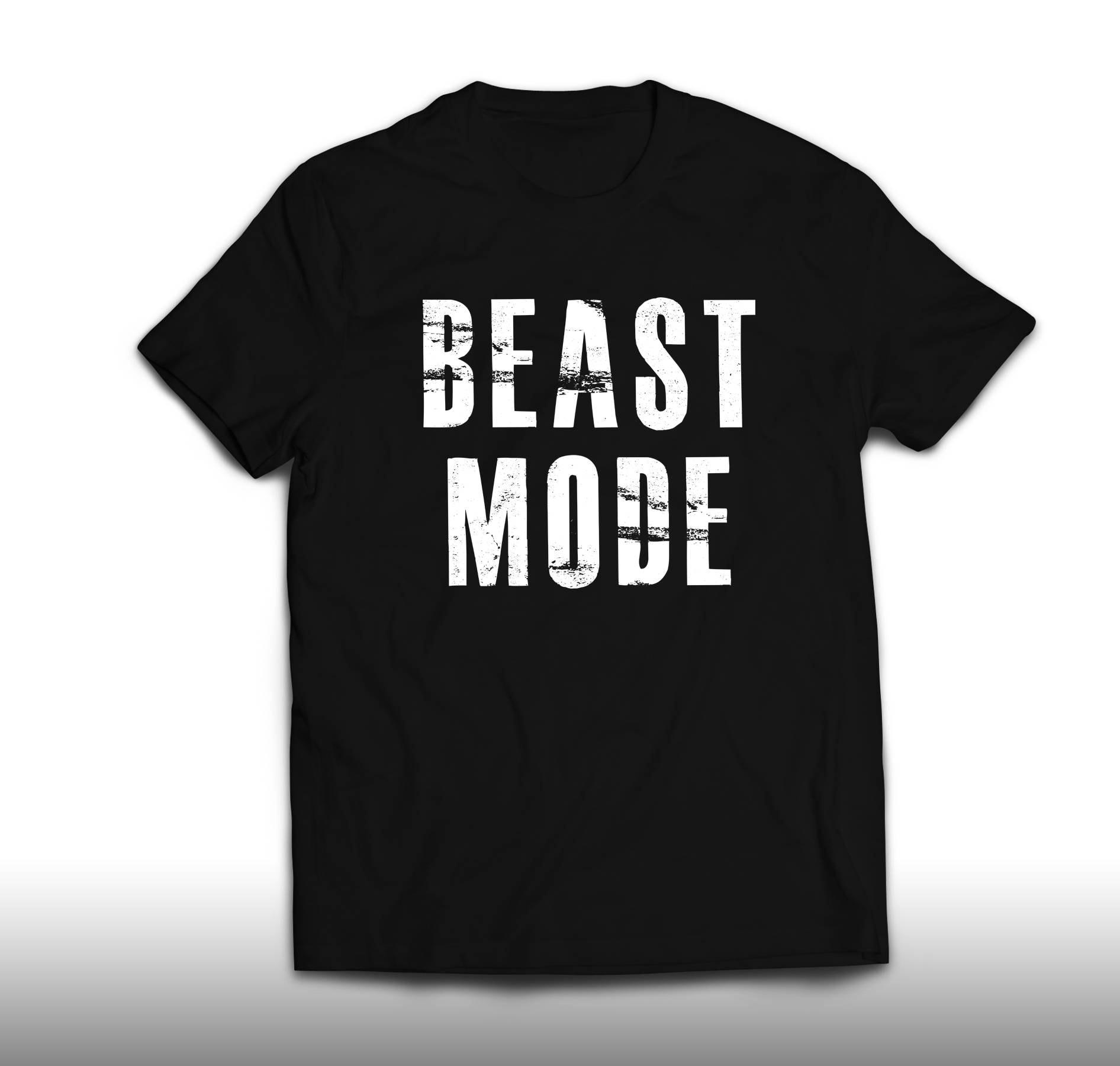 Mode de bête chemise, Beast Mode T Shirt, unisexe unisexe unisexe et Womens T-shirt taille S, M, L, XL, 2XL 0644e3