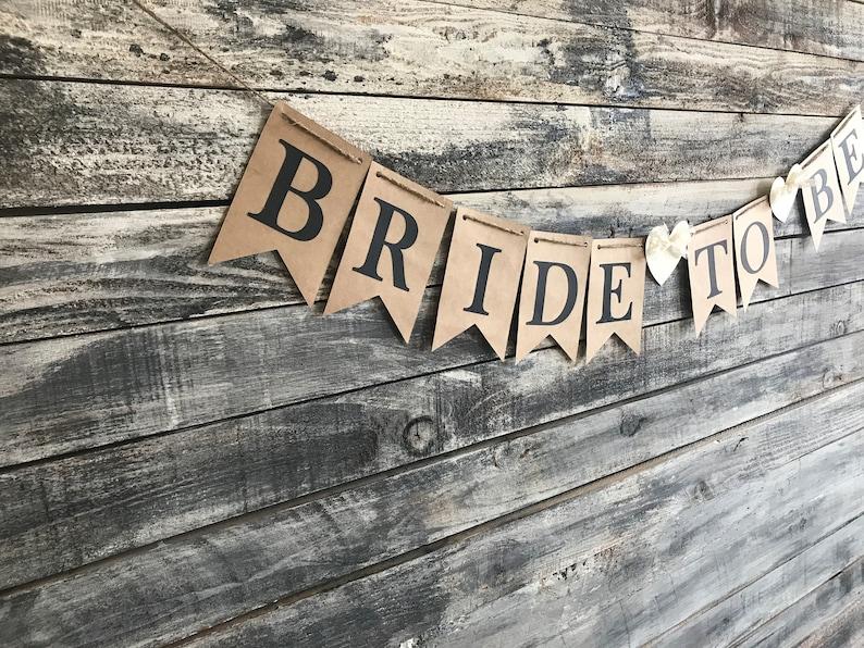 Rid shower decor bridal shower banner Bride to be banner