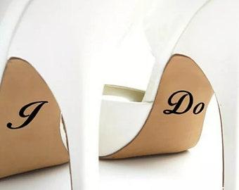 Personalized I do Me too wedding shoe vinyl sticker, wedding shoe stickers, wedding shoe decal bride groom shoe sole decal DIY wedding shoe
