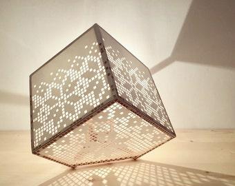 "Lamp modern design with folk patterns - ""First snow"""