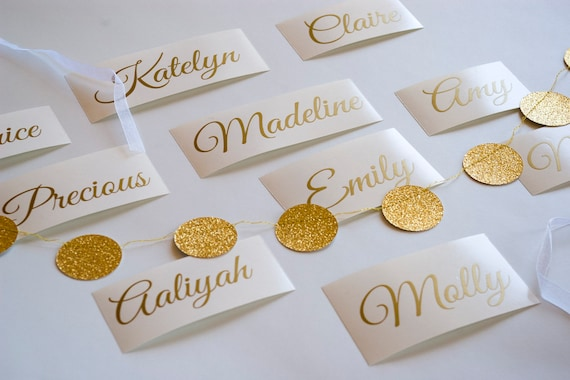 Custom Gold Name Sticker Wedding Invitation Seals Etsy
