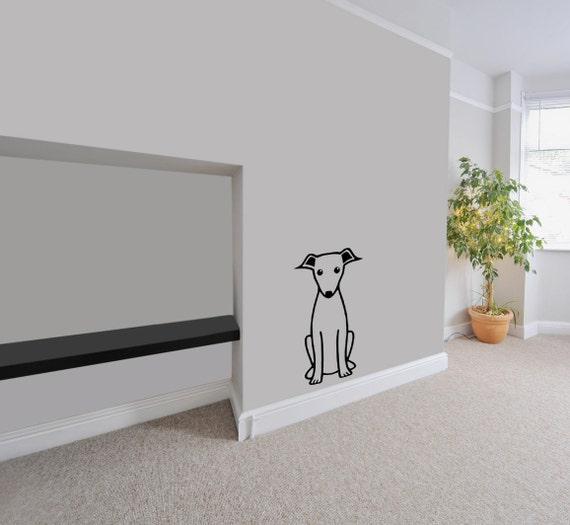 Moderne Wandtattoos windhund-aufkleber moderne wandtattoos büro wandtattoo | etsy