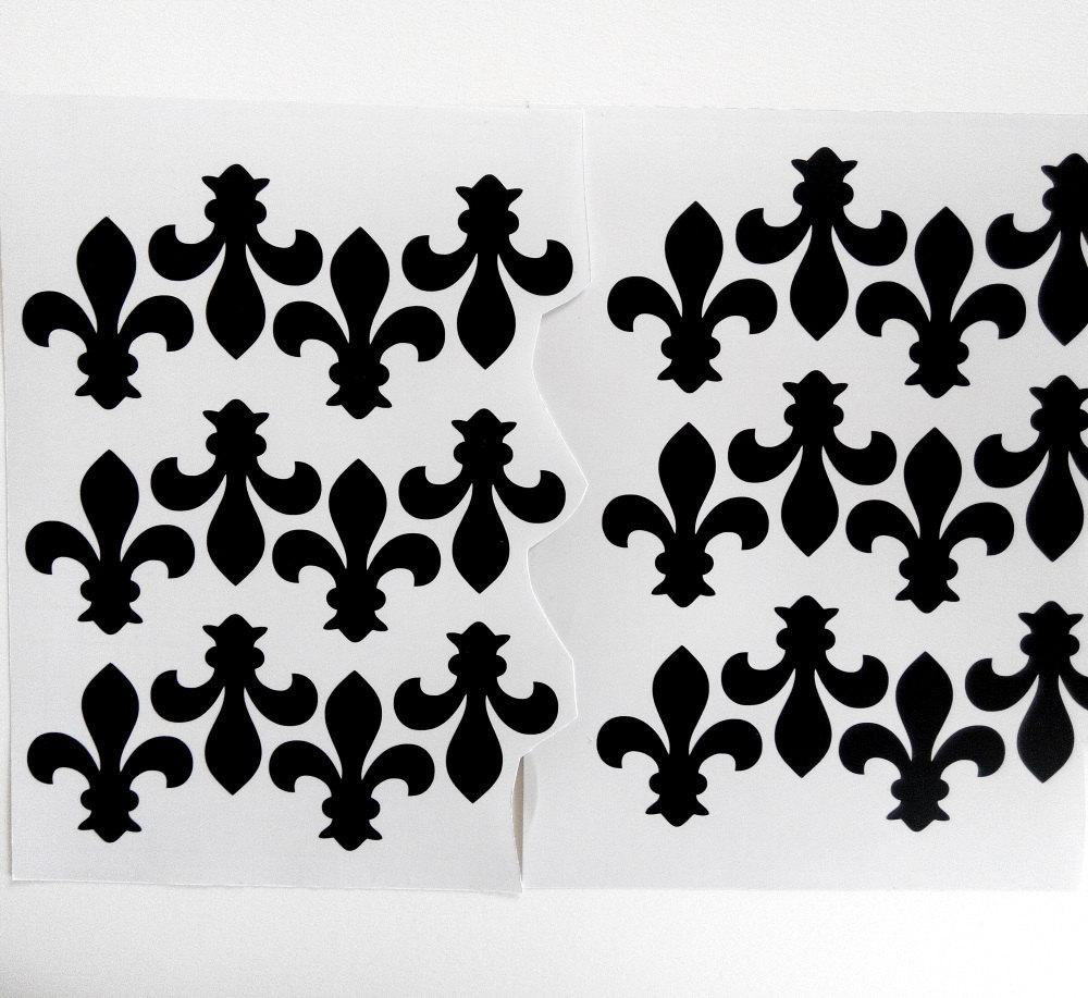 25 Fleur De Lis Party Stickers Vinyl Stickers Decal Etsy