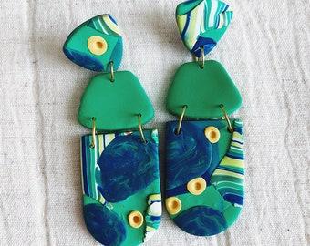Abstract Sea life Earrings, Ocean-inspired earrings